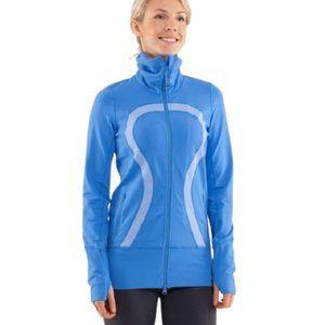 Lululemon In Stride jacket in blue full zip size 8